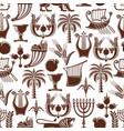 israel jewish culture seamless pattern vector image