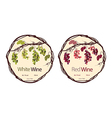 Label for red and white wine vector image vector image