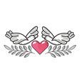 love heart cartoon vector image vector image