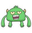 mad green goblin cartoon monster vector image vector image