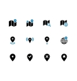Map duotone icons GPS and Navigation vector image vector image
