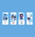 mobile application medical service smartphone vector image vector image