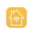 modern smart house icon on white background vector image