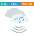 Music cloud icon vector image