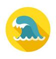 ocean wave icon summer vacation vector image