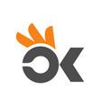 ok icon logo design vector image