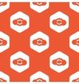 Orange hexagon cloud exchange pattern vector image vector image