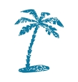 Palm grunge icon vector image vector image