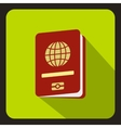 Passport icon flat style vector image vector image