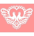 Pattern with doves vector image vector image