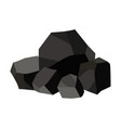 pile charcoal graphite coal vector image