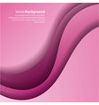 pink background curves abstract twist lines vector image