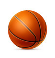 realistic basketball ball for betting promo vector image