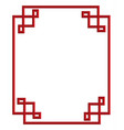 red china frame vector image vector image