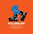Rollerblade or Roller Skates vector image vector image