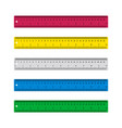 ruler for school plastic ruler isolated on white vector image vector image