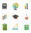 School symbols set vector image vector image