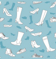 seamless pattern with women shoes vector image