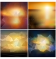 Set of blurry backgrounds Abstract geometric vector image vector image