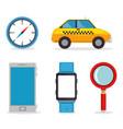 set of gps navigation elements vector image