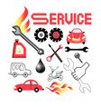 set service cars vector image
