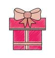 shopping gift box vector image