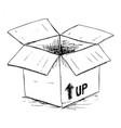 sketchy box vector image