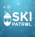 Ski patrol and icon man vector image vector image