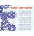 under construction background with hand vector image vector image