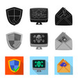 virus and secure icon set vector image