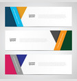web banner template vector image
