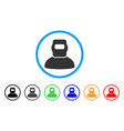 welder rounded icon vector image