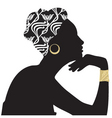 woman beautiful portrait silhouette vector image vector image