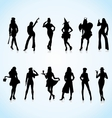 Women in uniform silhouettes vector | Price: 1 Credit (USD $1)