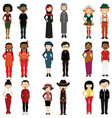 people of different nations vector image