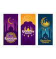 collection of colored banners for ramadan vector image