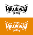 Happy hallowen party title logo template Bat wings vector image
