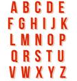 Nice red retro alphabet set vector image