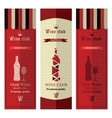 Three banners with wine vector image