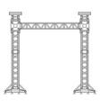 dark contour truss tower lift construction vector image