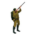 hunter with gun vector image