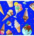 icecream seamless pattern design vector image