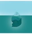 Polygonal iceberg glacier landscape vector image