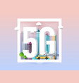 5g network logo in smart city technology icon vector image