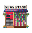 A newspaper shop vector image vector image