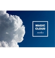 Abstract concept white cloud on blue sky backgroun vector image