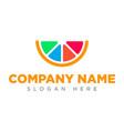 art lemon icon logo art orange icon logo vector image vector image