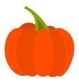Autumn pumpkin icon flat style vector image vector image