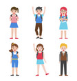 back to school children avatar icon set vector image vector image