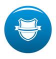 badge retro icon blue vector image vector image
